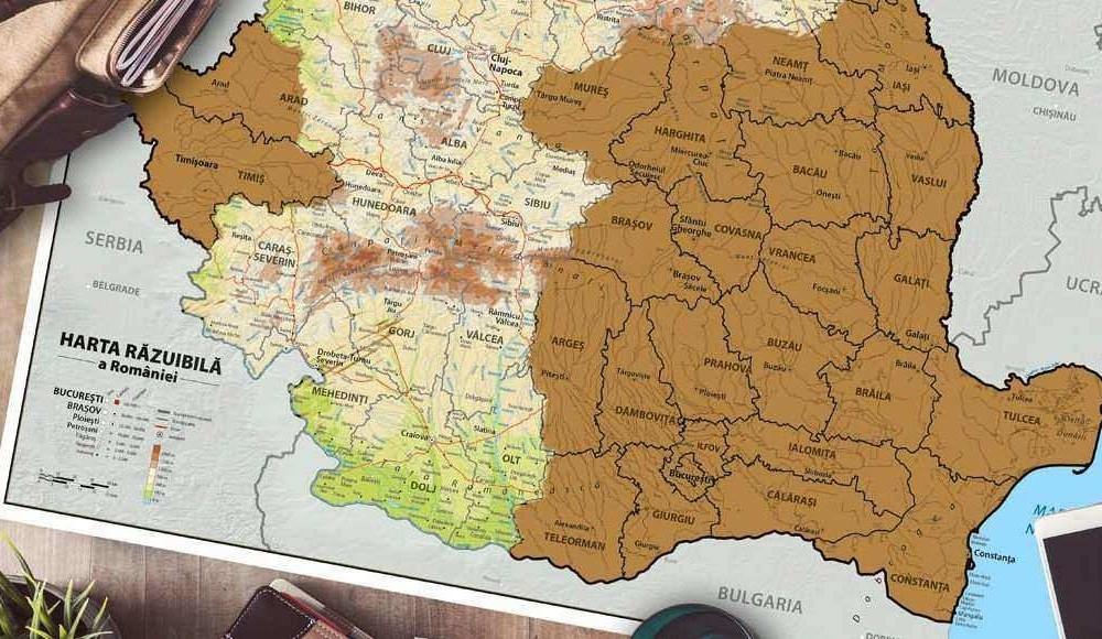 Harta Răzuibilă a României